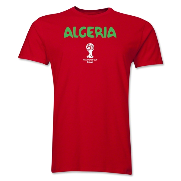 Algeria 2014 FIFA World Cup Brazil(TM) Men's Premium Core T-Shirt (Red)