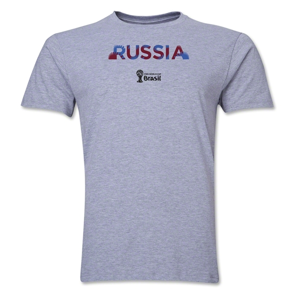 Russia 2014 FIFA World Cup Brazil(TM) Men's Premium Palm T-Shirt (Grey)