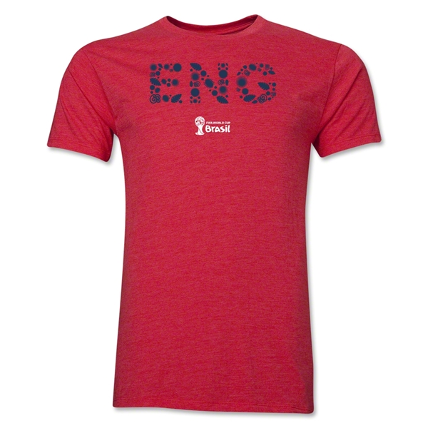 England 2014 FIFA World Cup Brazil(TM) Men's Premium Elements T-Shirt (Heather Red)