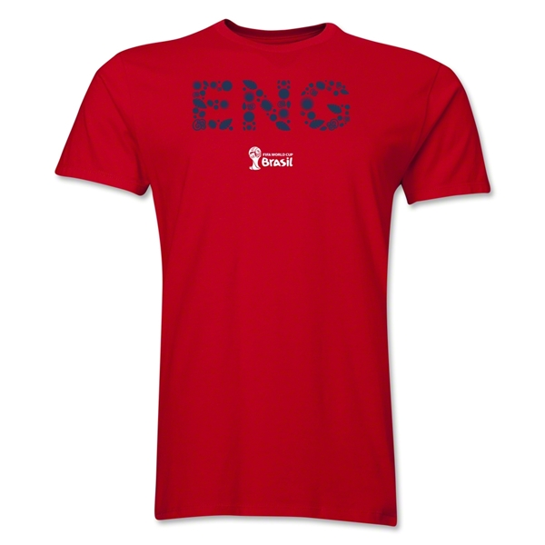 England 2014 FIFA World Cup Brazil(TM) Men's Premium Elements T-Shirt (Red)