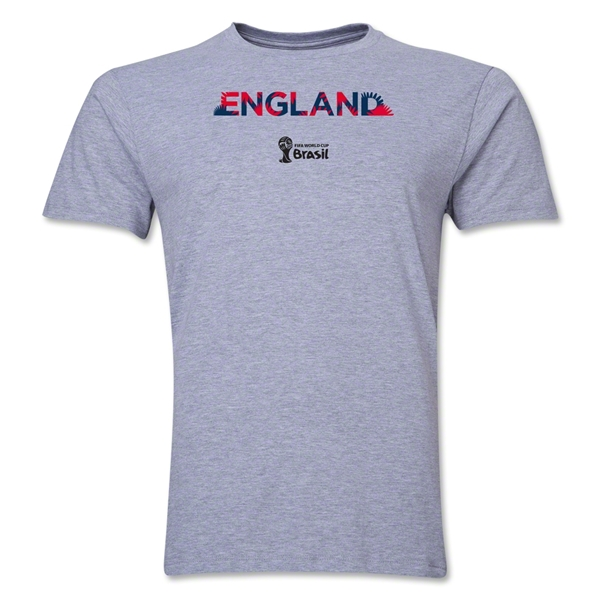 England 2014 FIFA World Cup Brazil(TM) Men's Premium Palm T-Shirt (Grey)