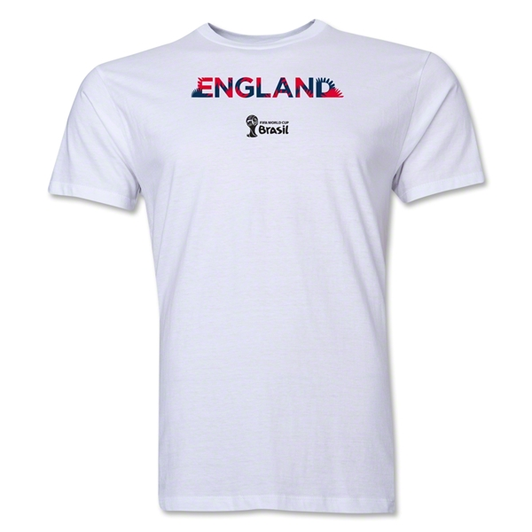 England 2014 FIFA World Cup Brazil(TM) Men's Premium Palm T-Shirt (White)