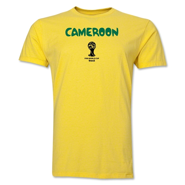 Cameroon 2014 FIFA World Cup Brazil(TM) Men's Premium Core T-Shirt (Yellow)