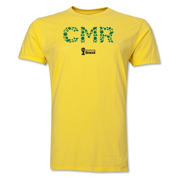Cameroon 2014 FIFA World Cup Brazil(TM) Men's Premium Elements T-Shirt (Yellow)