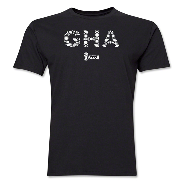 Ghana 2014 FIFA World Cup Brazil(TM) Men's Premium Elements T-Shirt (Black)