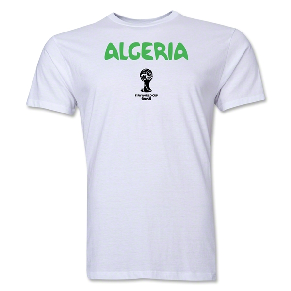 Algeria 2014 FIFA World Cup Brazil(TM) Men's Premium Core T-Shirt (White)