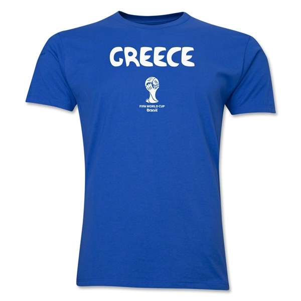 Greece 2014 FIFA World Cup Brazil(TM) Men's Premium Core T-Shirt (Royal)