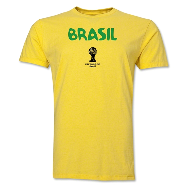 Brazil 2014 FIFA World Cup Brazil(TM) Men's Premium Native Language T-Shirt (Black)