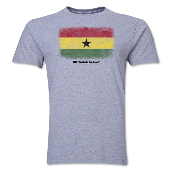 Ghana FIFA World Cup Brazil(TM) Men's Premium Flag T-Shirt (Gray)