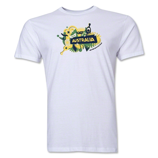 Australia FIFA World Cup Brazil(TM) Men's Premium Celebration T-Shirt (White)