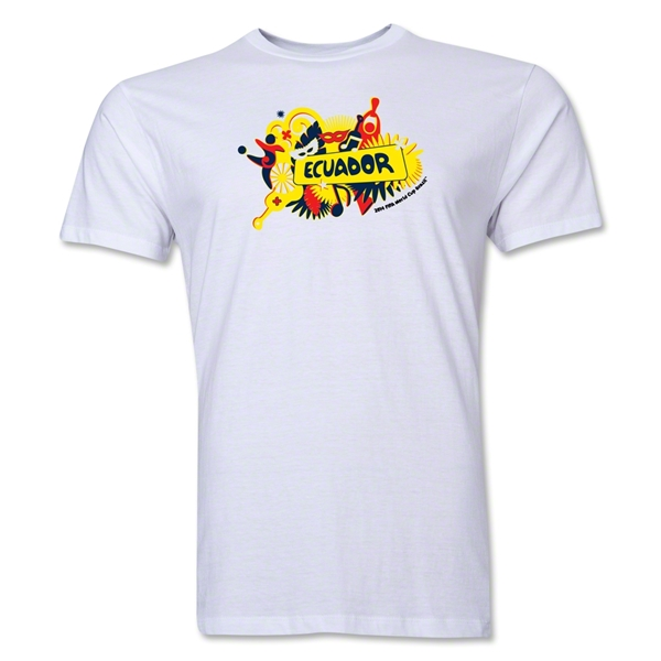 Ecuador FIFA World Cup Brazil(TM) Men's Premium Celebration T-Shirt (White)