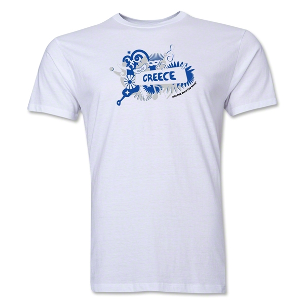 Greece FIFA World Cup Brazil(TM) Men's Premium Celebration T-Shirt (White)