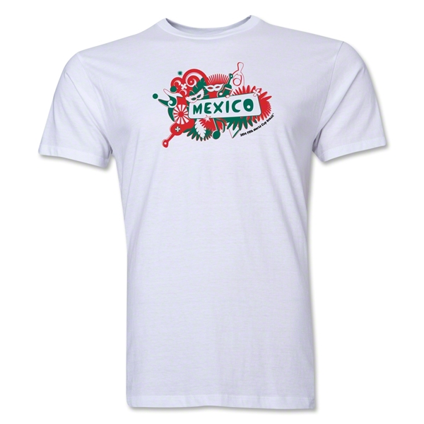 Mexico FIFA World Cup Brazil(TM) Men's Premium Celebration T-Shirt (White)