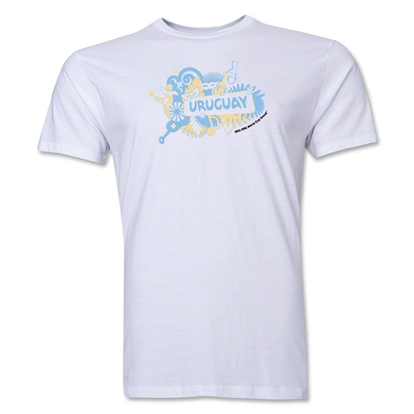 Uruguay FIFA World Cup Brazil(TM) Men's Premium Celebration T-Shirt (White)