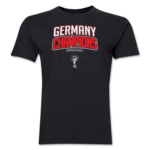 Germany 2014 FIFA World Cup Brazil(TM) Men's Champions Logotype T-Shirt (Black)