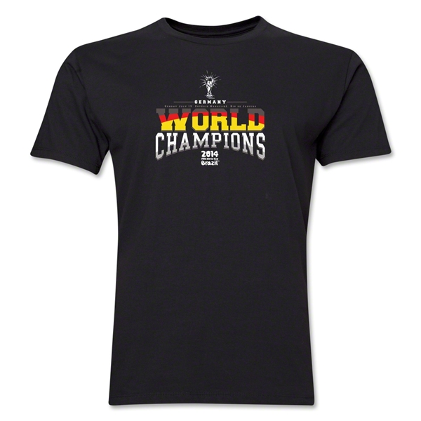 Germany 2014 FIFA World Cup Brazil(TM) Men's World Champions T-Shirt (Black)