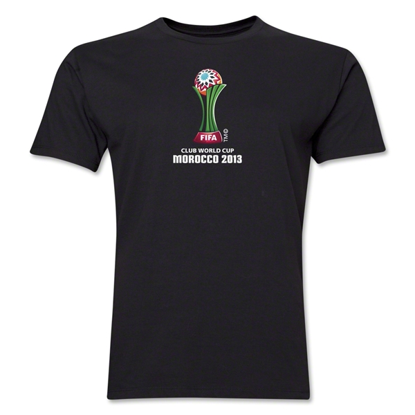 FIFA Club World Cup Morocco 2013 Men's Official Emblem T-Shirt (Black)