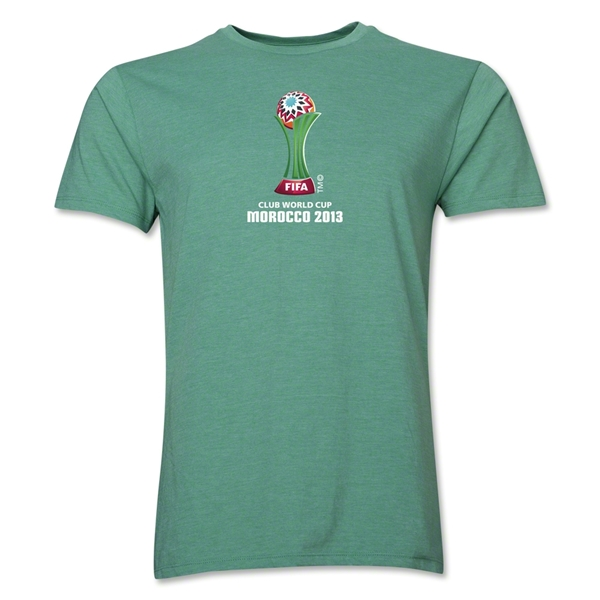 FIFA Club World Cup Morocco 2013 Men's Official Emblem T-Shirt (Heather Green)