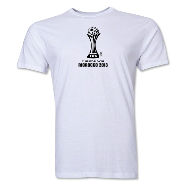 FIFA Club World Cup Morocco 2013 Men's Official Emblem T-Shirt (White)