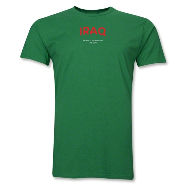 Iraq 2013 FIFA U-17 World Cup UAE Men's Premium T-Shirt (Green)