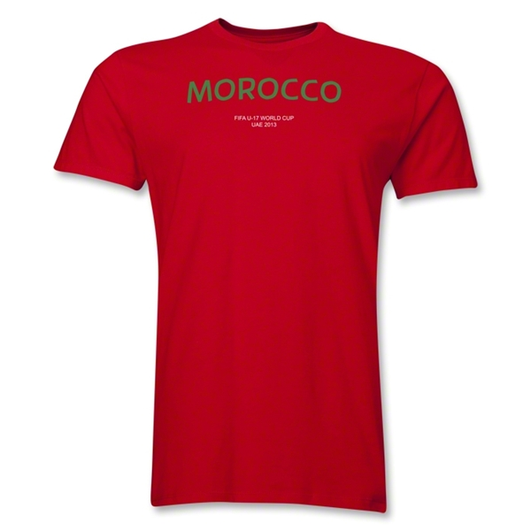 Morocco 2013 FIFA U-17 World Cup UAE Men's Premium T-Shirt (Red)