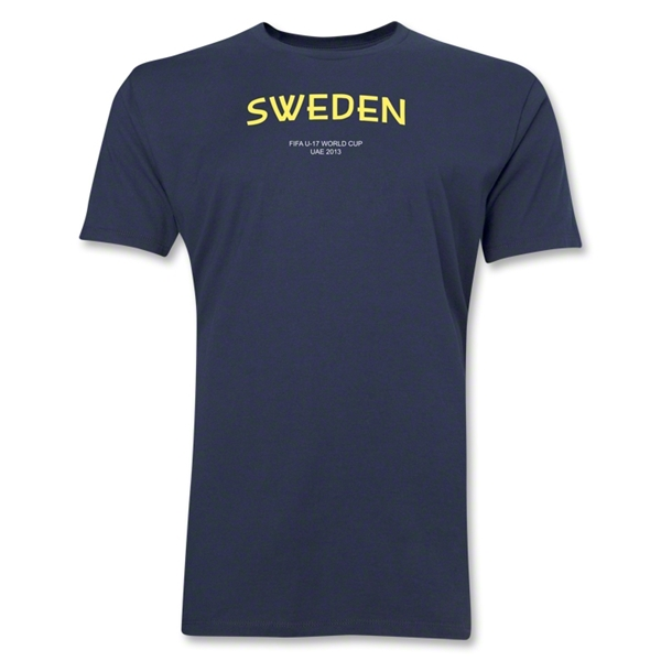 Sweden 2013 FIFA U-17 World Cup UAE Men's Premium T-Shirt (Navy)