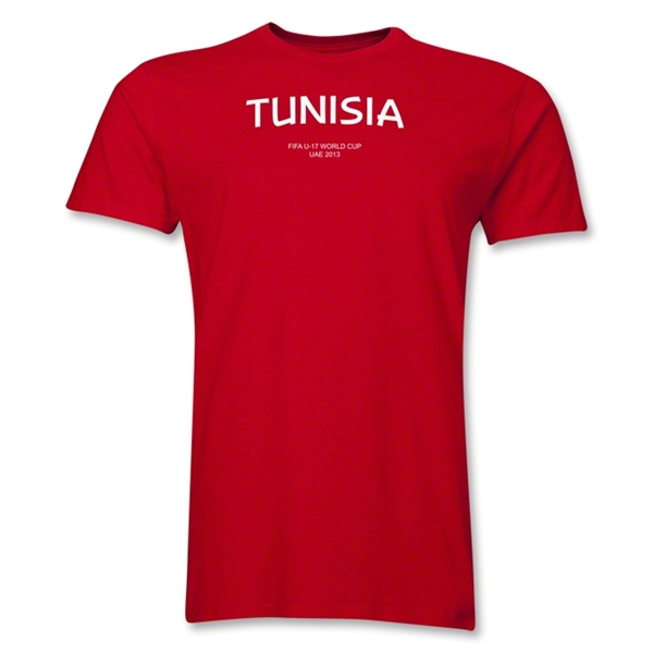 Tunisia 2013 FIFA U-17 World Cup UAE Men's Premium T-Shirt (Red)