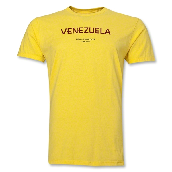 Venezuela 2013 FIFA U-17 World Cup UAE Men's Premium T-Shirt (Yellow)