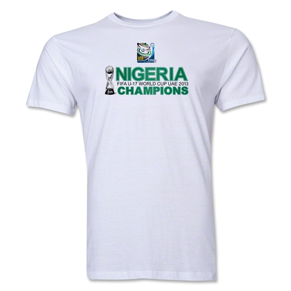 Nigeria FIFA U-17 World Cup UAE 2013 Champions Men's Premium T-Shirt (White)