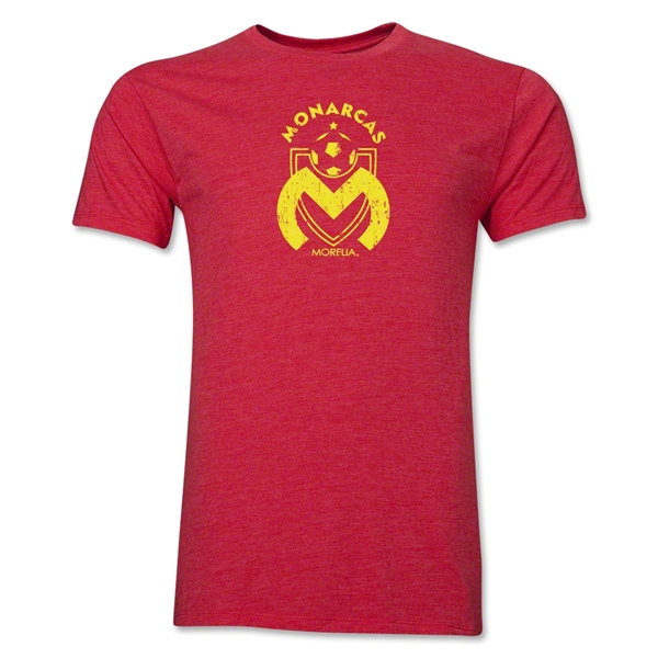 Monarcas Distressed Men's Fashion T-Shirt (Heather Red)