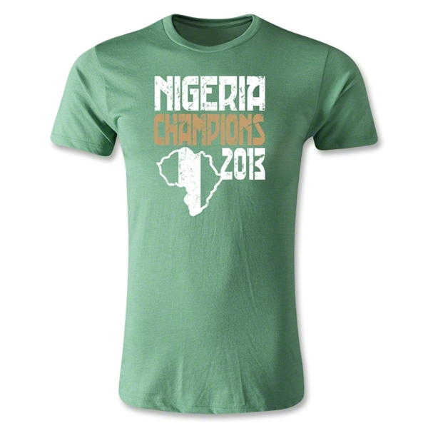 Nigeria 2013 Champions of Africa Graphic Men's Fashion T-Shirt (Green)