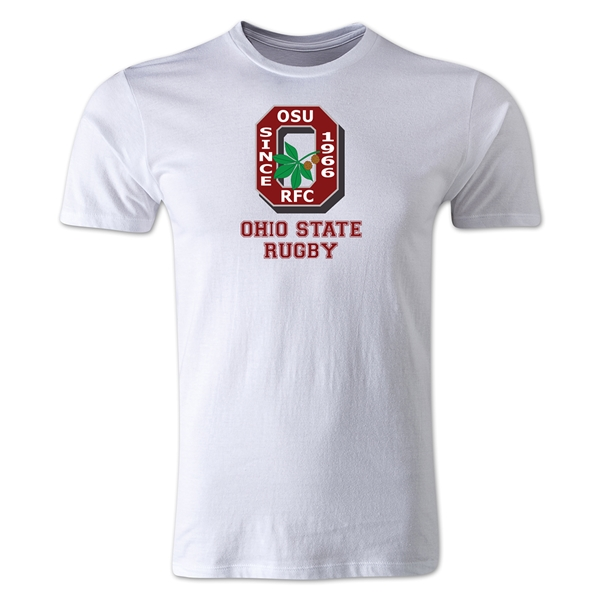 Ohio State Rugby Men's Fashion T-Shirt (White)