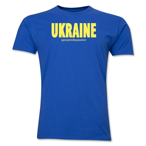 Ukraine Powered by Passion T-Shirt (Royal)