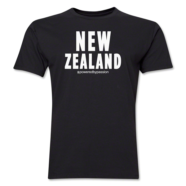 New Zealand Powered by Passion T-Shirt (Black)