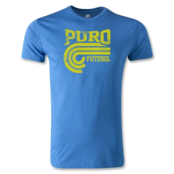 Puro Futebol College Distressed T-Shirt (Heather Blue)