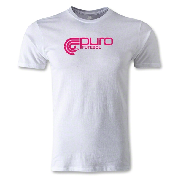 Puro Futebol Logo Men's Fashion T-Shirt (White)