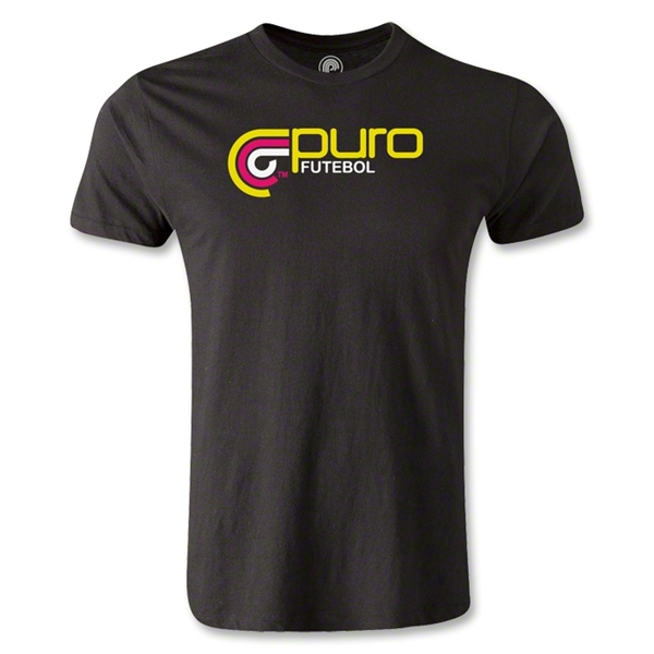 Puro Futebol Color Logo Men's Fashion T-Shirt (Black)
