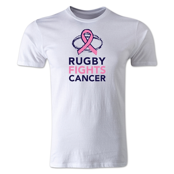 Rugby Fights Cancer Premium T-Shirt (White)