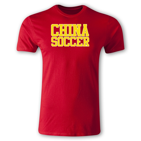 China Soccer Supporter Men's Fashion T-Shirt (Red)