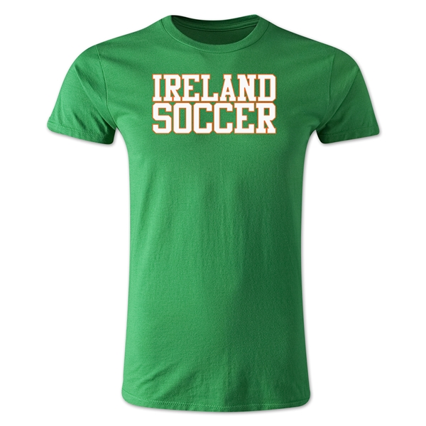 Ireland Soccer Supporter Men's Fashion T-Shirt (Green)