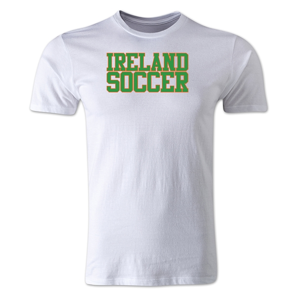 Ireland Soccer Supporter Men's Fashion T-Shirt (White)