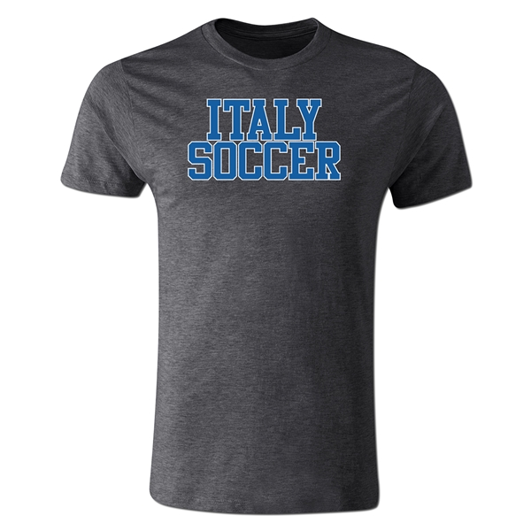Italy Soccer Supporter Men's Fashion T-Shirt (Dark Gray)