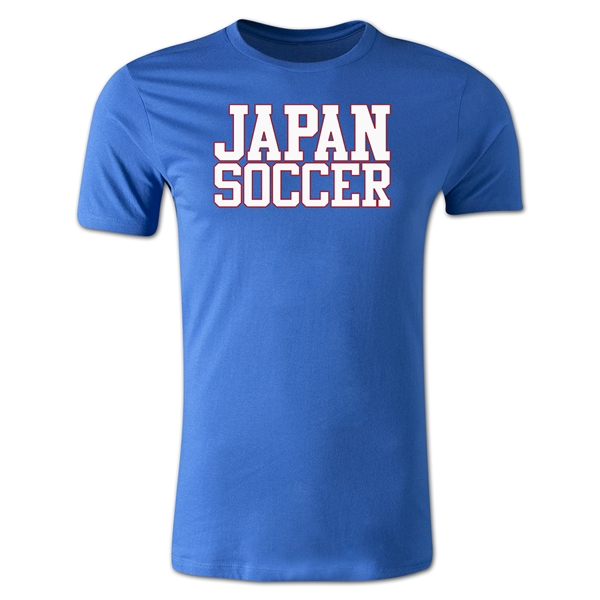 Japan Soccer Supporter Men's Fashion T-Shirt (Royal)