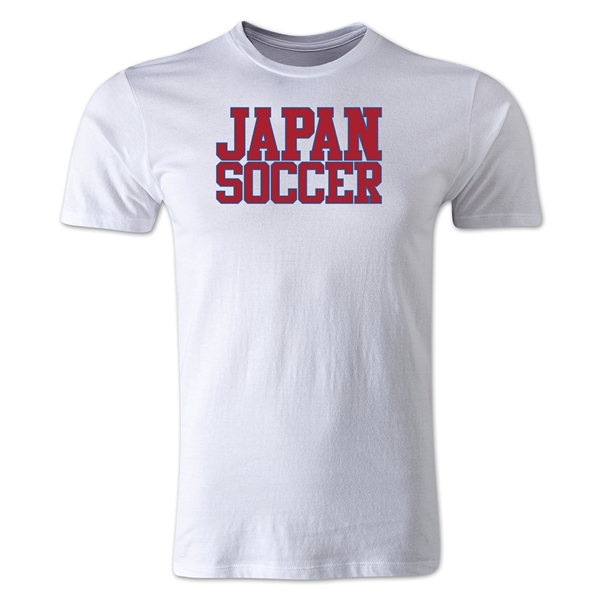 Japan Soccer Supporter Men's Fashion T-Shirt (White)