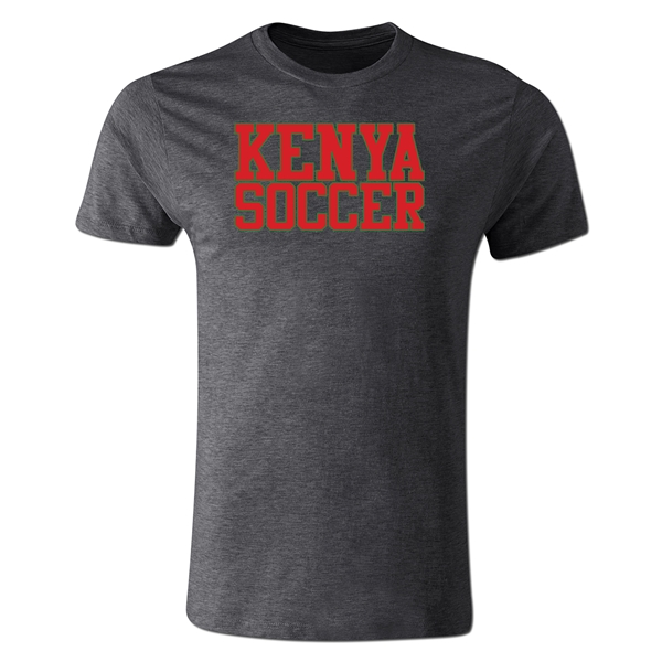 Kenya Soccer Supporter Men's Fashion T-Shirt (Dark Gray)