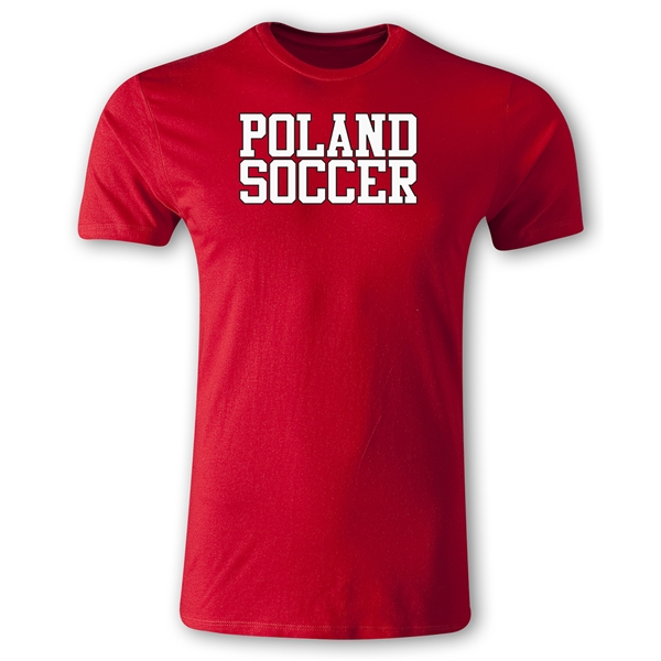 Poland Soccer Supporter Men's Fashion T-Shirt (Red)