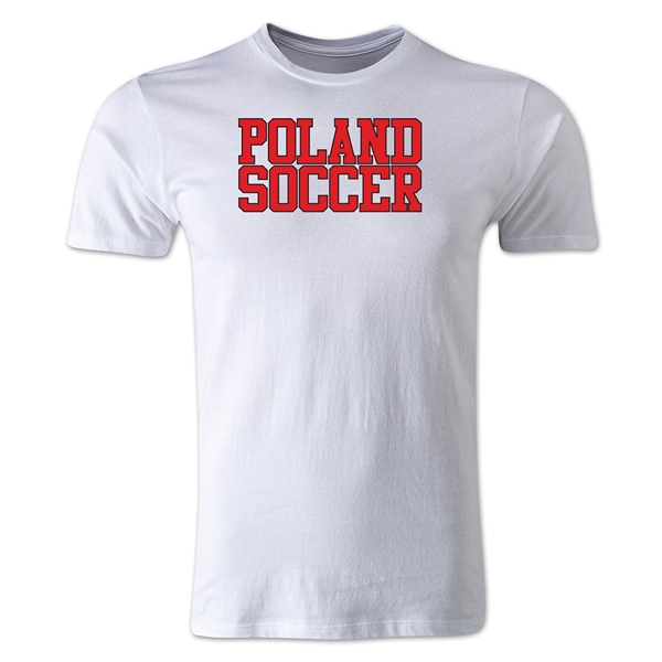 Poland Soccer Supporter Men's Fashion T-Shirt (White)