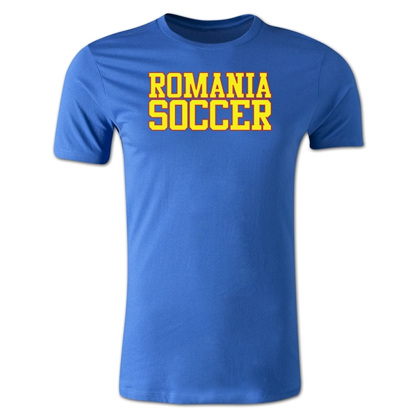 Romania Soccer Supporter Men's Fashion T-Shirt (Royal)