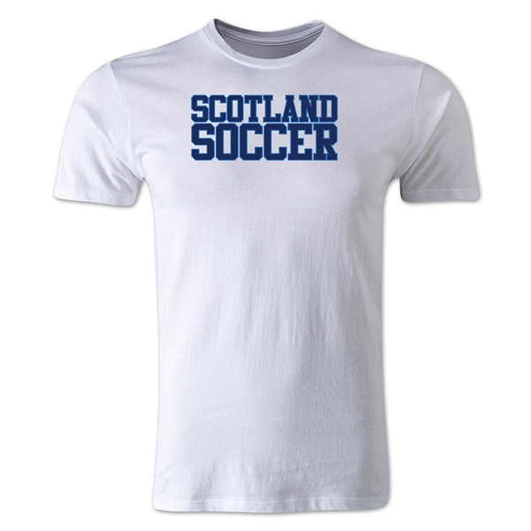 Scotland Soccer Supporter Men's Fashion T-Shirt (White)