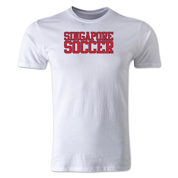 Singapore Soccer Supporter Men's Fashion T-Shirt (White)